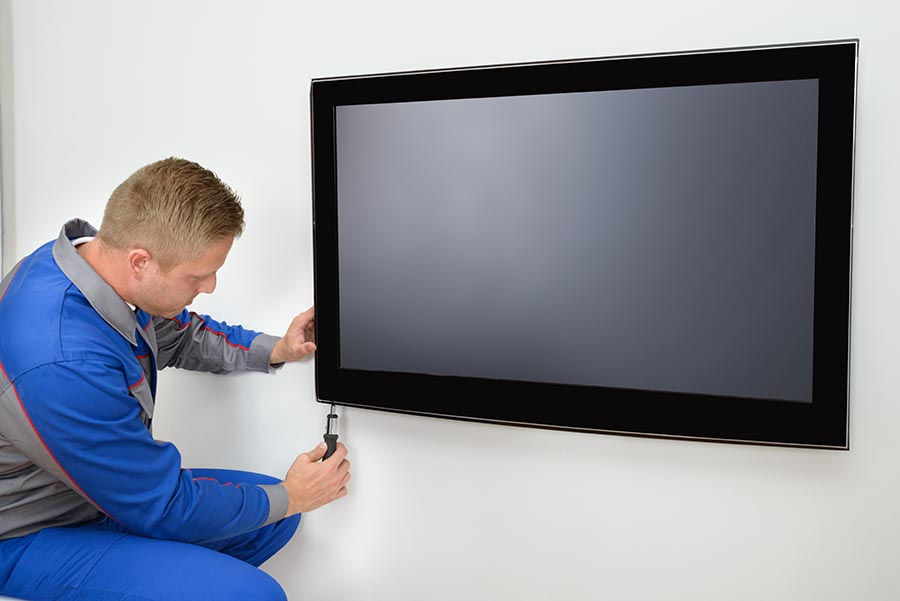 flat screen tv installation service on a wall