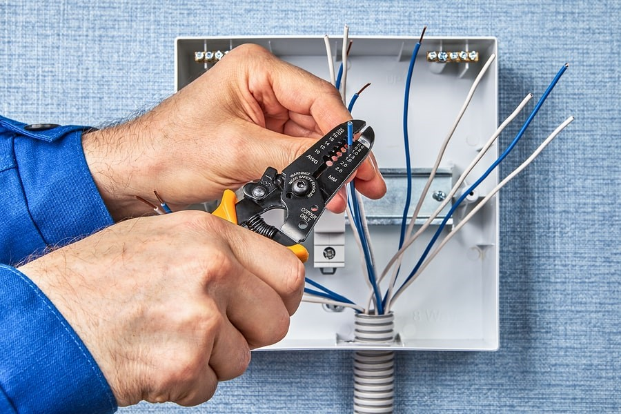 Cutting of exposed wires as part of electrical services